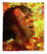 Joe Cocker Colorful Palette Knife Fleece Blanket