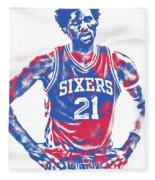 Joel Embiid Philadelphia Sixers Pixel Art 10 Fleece Blanket