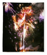 Joe's Fireworks Party 2 Fleece Blanket