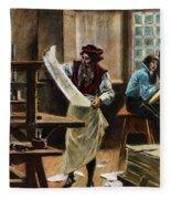 Johann Gutenberg Fleece Blanket
