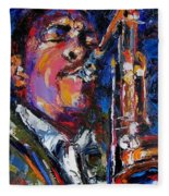 John Coltrane Live Fleece Blanket