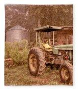 John Deere Antique Fleece Blanket
