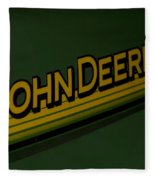 John Deere Signage Decal Fleece Blanket