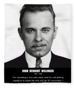 John Dillinger -- Public Enemy No. 1 Fleece Blanket