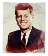 John F. Kennedy Fleece Blanket