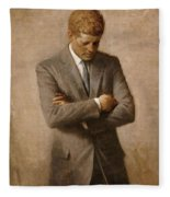 John F Kennedy Fleece Blanket