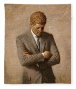John F Kennedy Fleece Blanket