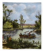 John Fitch Steamboat, 1796 Fleece Blanket