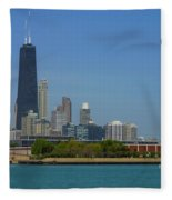John Hancock Center Chicago Fleece Blanket