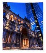 John Hancock Tower Trinity Church Boston Ma Fleece Blanket