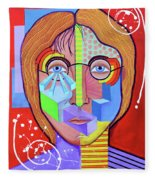 John Lennon Fleece Blanket