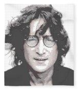 John Lennon - Parallel Hatching Fleece Blanket