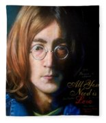 John Lennon - Wordsmith Fleece Blanket