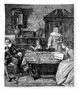 John Milton Dictating Paradise Lost Fleece Blanket