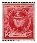John Philip Sousa Postage Stamp Fleece Blanket