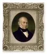 John Quincy Adams, 6th U.s. President Fleece Blanket