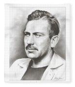 John Steinbeck Fleece Blanket