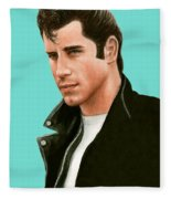 John Travolta Grease Fleece Blanket