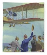 John William Alcock And Arthur Whitten Brown Who Flew Across The Atlantic Fleece Blanket