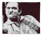 Johnny Cash Beer Cap Mosiac Fleece Blanket