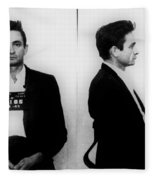 Johnny Cash Mug Shot Horizontal Fleece Blanket