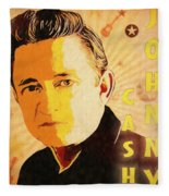 Johnny Cash Poster  Fleece Blanket