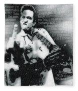 Johnny Cash Rebel Vertical Fleece Blanket