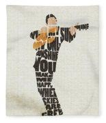 Johnny Cash Typography Art Fleece Blanket