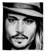 Johnny Depp  Fleece Blanket