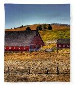 Johnson Road Barns Fleece Blanket