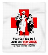 Join Our Red Cross Fleece Blanket