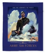 Join The Army Air Forces Fleece Blanket