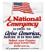 Arise America Before It Is Too Late - Join The Navy Fleece Blanket