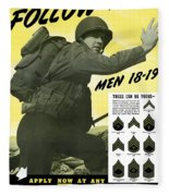 Join The Us Army - Follow Me Fleece Blanket