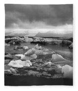 Jokulsarlon Glacier Lagoon Iceland 2041 Fleece Blanket
