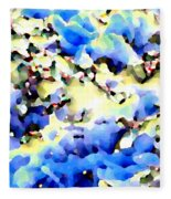 Jolly Winter Blues Fleece Blanket