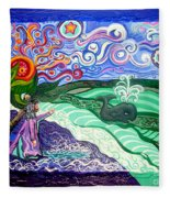 Jonah And The Whale Fleece Blanket
