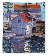 Jones Boathouse Fleece Blanket