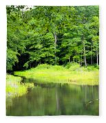Jones Mill Run Creek Fleece Blanket