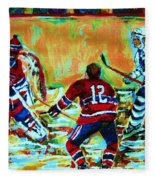 Jose Theodore The Goalkeeper Fleece Blanket