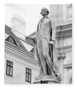 Josef Haydn In Black And White Fleece Blanket