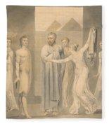 Joseph And Potiphar's Wife Fleece Blanket