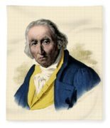 Joseph-marie Jacquard, French Inventor Fleece Blanket