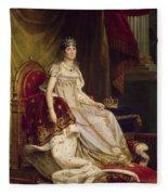 Josephine In Coronation Costume Fleece Blanket
