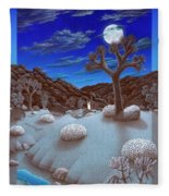 Joshua Tree At Night Fleece Blanket