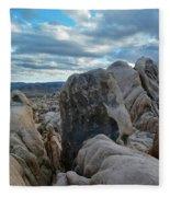 Joshua Tree Boulder Sky Fleece Blanket
