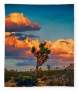 Joshua Tree In All Its Beauty Fleece Blanket