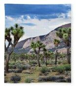 Joshua Tree National Park Landscape Fleece Blanket