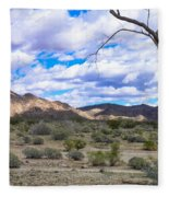 Joshua Tree National Park Landscape Fleece Blanket