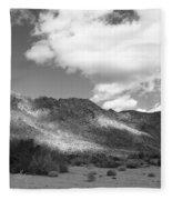 Joshua Tree National Park Tumbleweeds Fleece Blanket